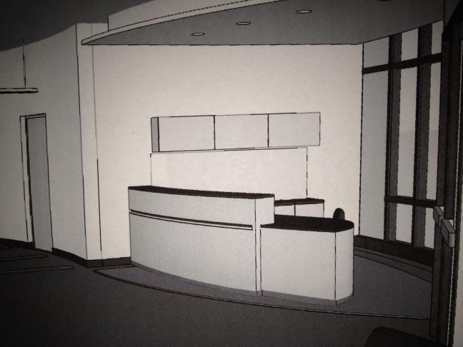 Reception desk drawing