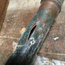 A frozen Frost Free Hose bib always disconnect your hose from the spout in freezing weather
